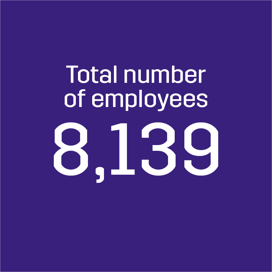 Total Number of Employees 8,139